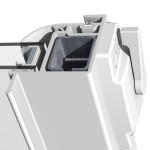 Silent Guard 9000 Horizontal Sliding Acoustic Window Integral Finger Pull