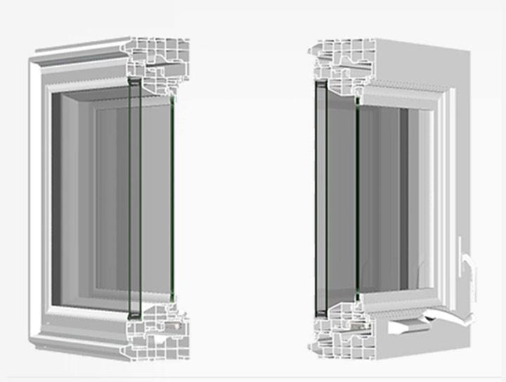 Silent Guard Vinyl Acoustic Windows, Series 7600 Awning Window