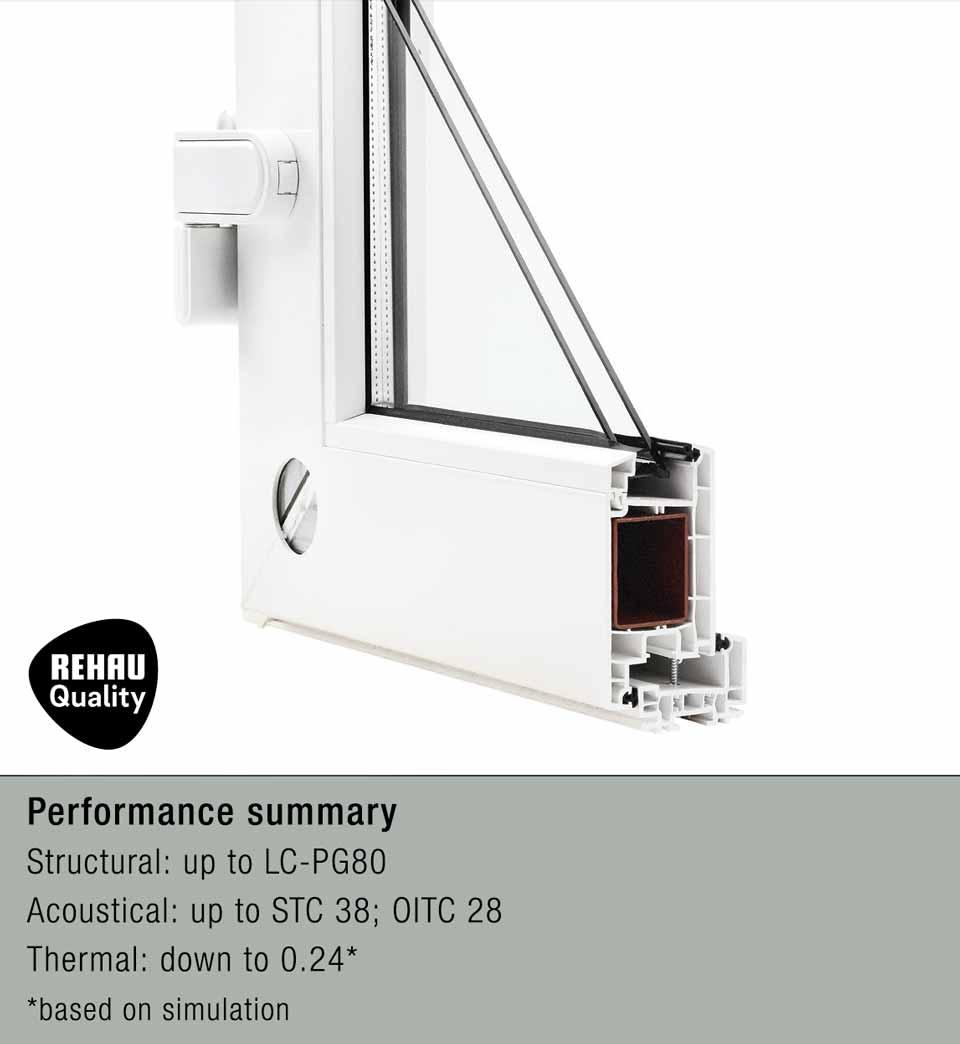 4500 architectural hinged door cutaway view