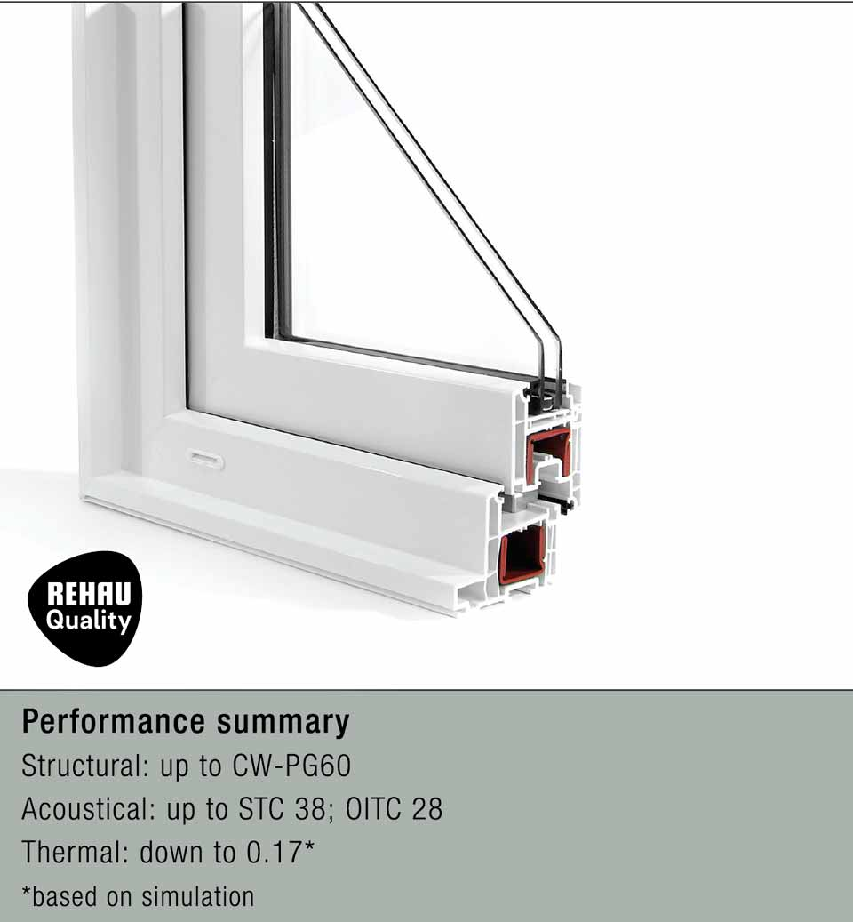4500 architectural series tilt-turn fixed window cutaway